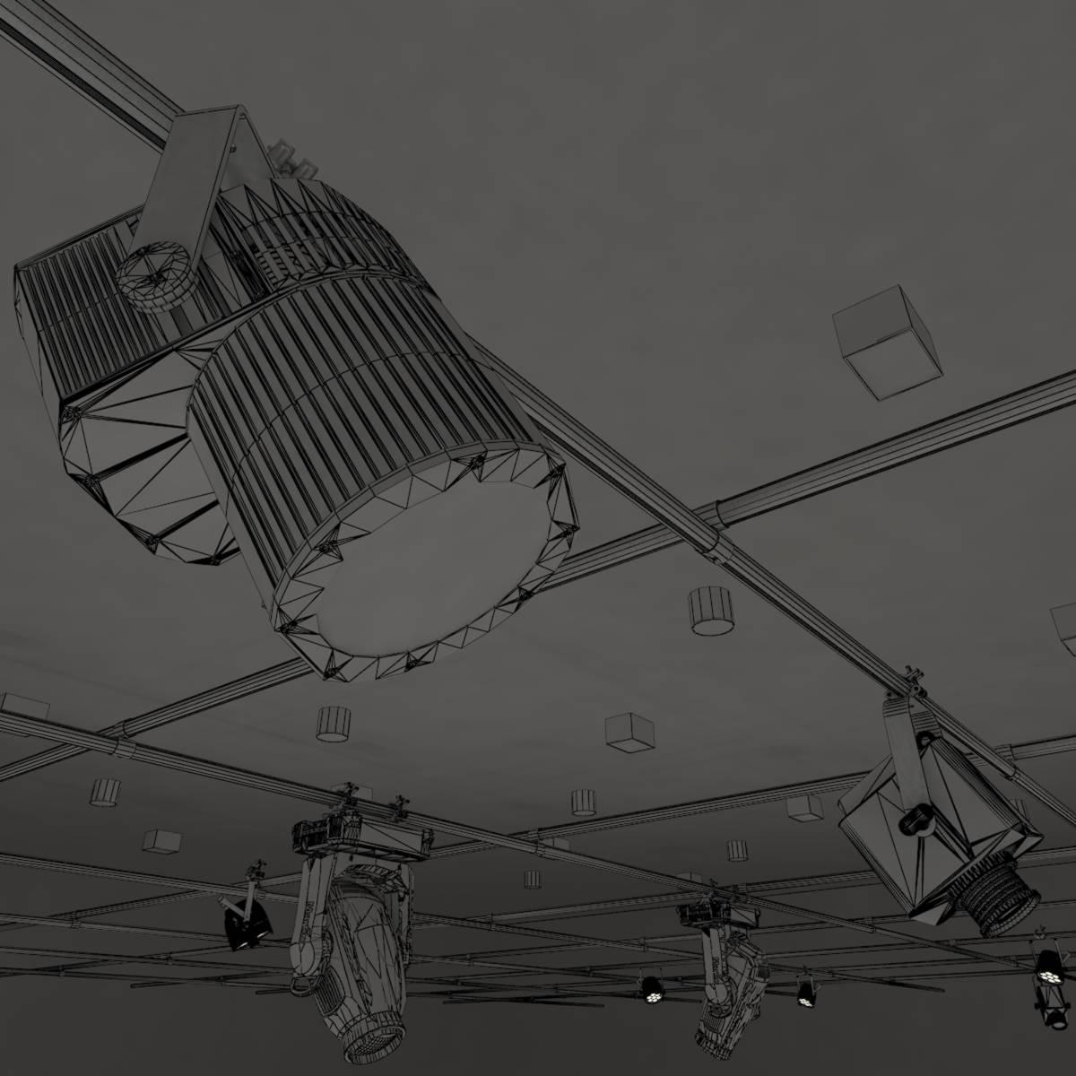 виртуал өргөн нэвтрүүлгийн телевизийн мэдээллийн студи 028 3d загвар max dxf fbx бүтэцтэй obj 215586