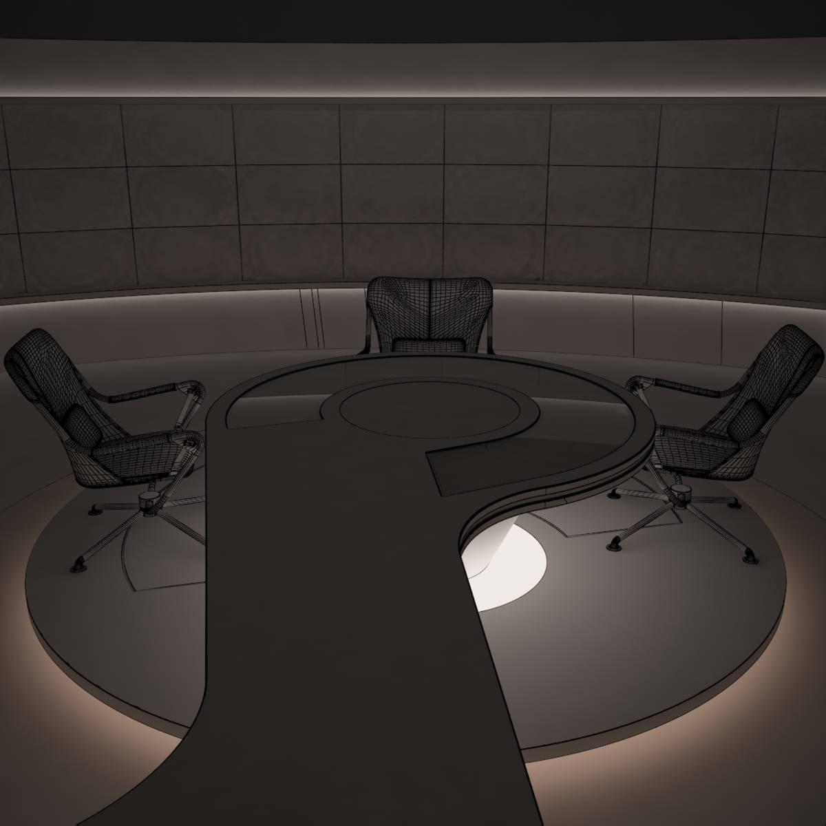 виртуал өргөн нэвтрүүлгийн телевизийн мэдээллийн студи 028 3d загвар max dxf fbx бүтэцтэй obj 215588