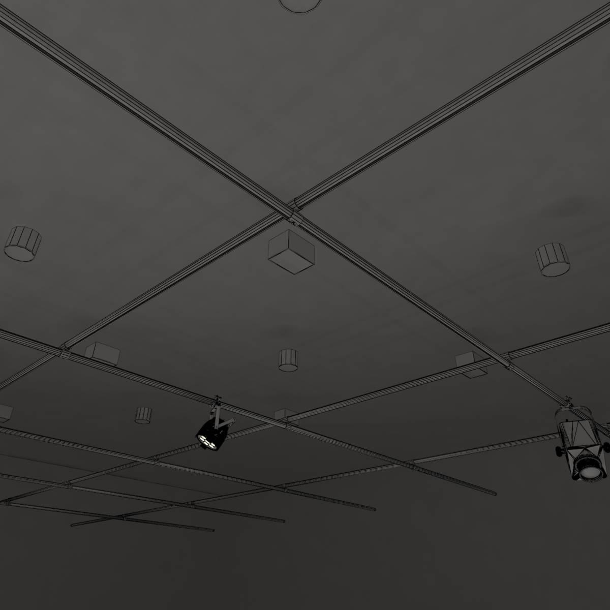 виртуал өргөн нэвтрүүлгийн телевизийн мэдээллийн студи 028 3d загвар max dxf fbx бүтэцтэй obj 215594