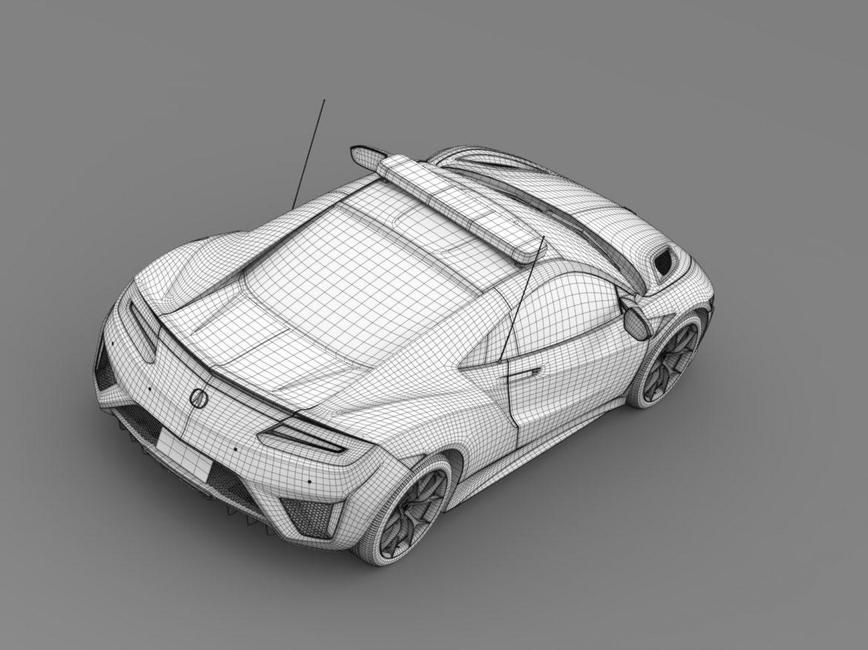 acura nsx safety car 2016 3d model 3ds max fbx c4d lwo ma mb hrc xsi obj 215703