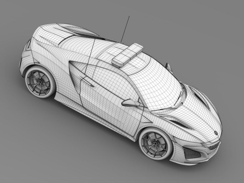 acura nsx safety car 2016 3d model 3ds max fbx c4d lwo ma mb hrc xsi obj 215705