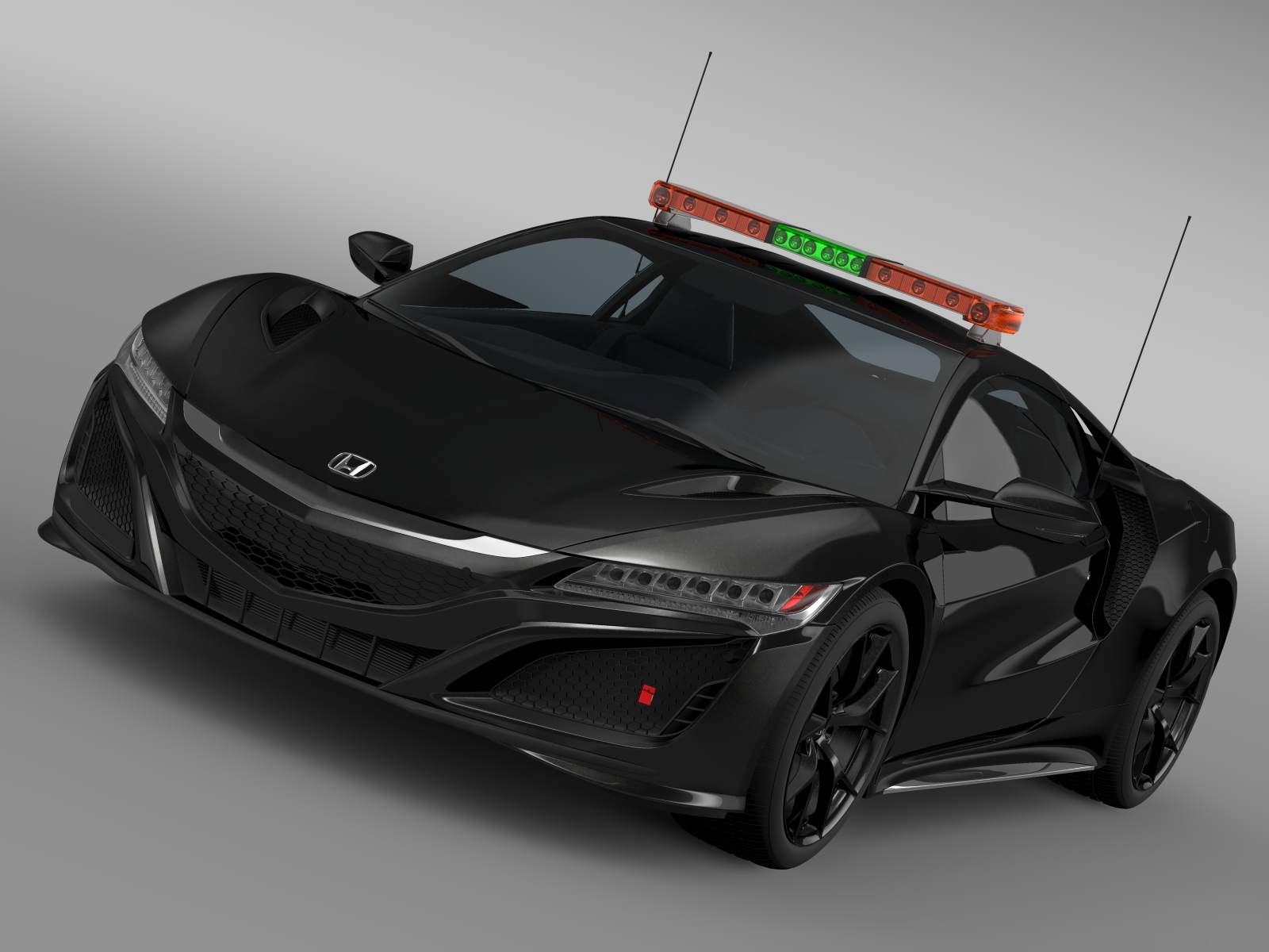 honda nsx 2016 safety car 3d model 3ds max fbx c4d lwo ma mb hrc xsi obj 215727