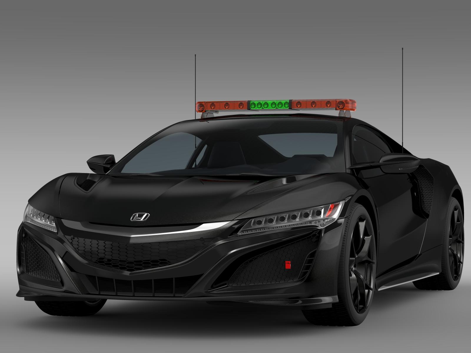 Honda nsx 2016 safety car 3d model buy honda nsx 2016 for Honda 2016 models