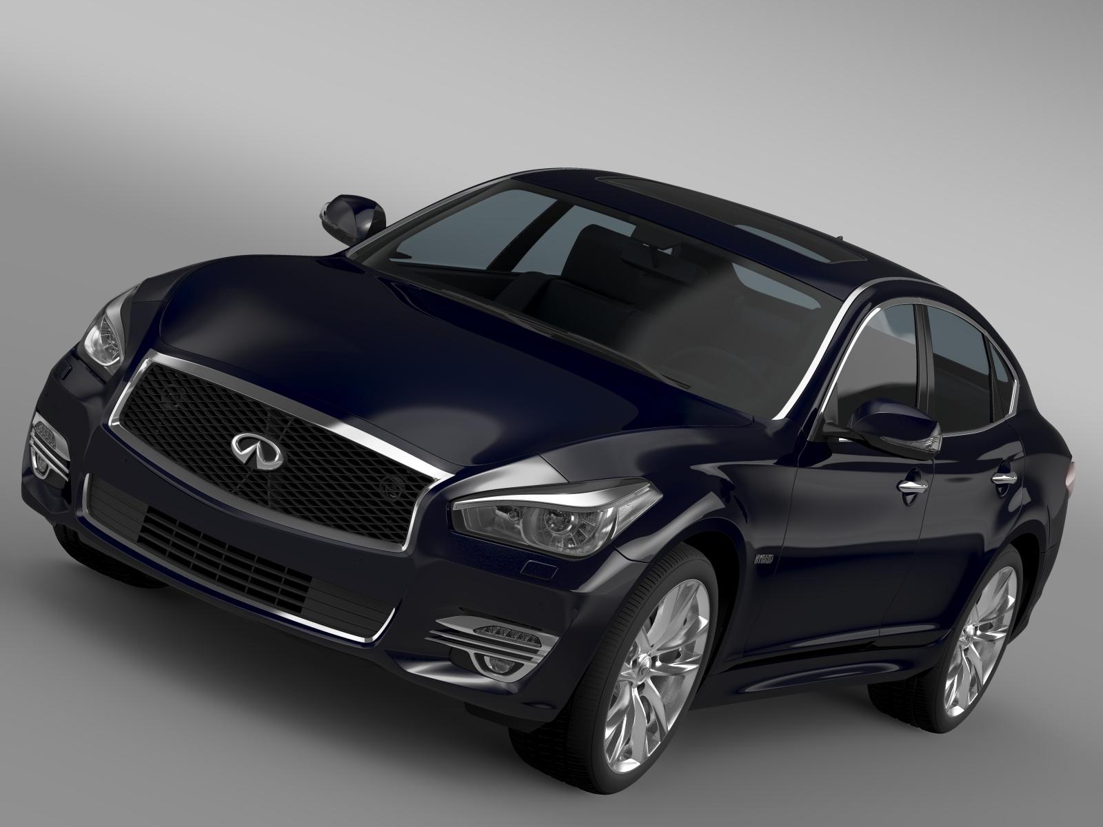 infiniti q70 hybrid (y51) 2015 3d model 3ds max fbx c4d lwo ma mb hrc xsi obj 215804