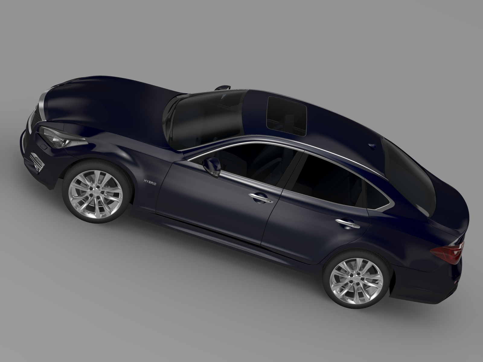infiniti q70 hybrid y51 2015 3d model flatpyramid. Black Bedroom Furniture Sets. Home Design Ideas