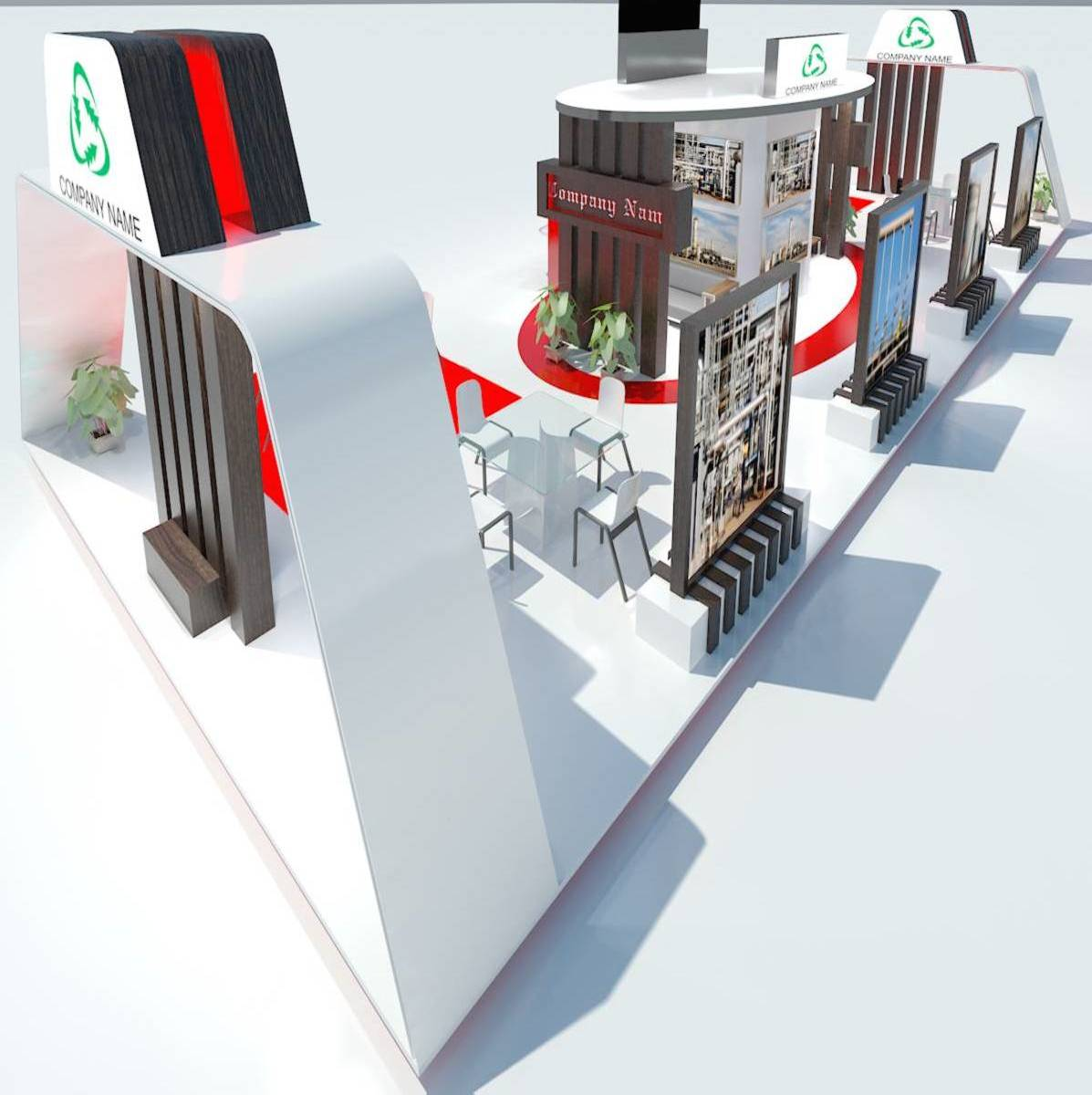 Exhibition Stand 032 3d model 3ds max dxf fbx obj 215853