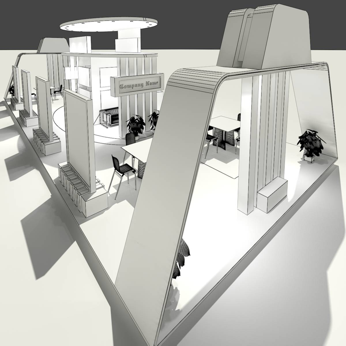Exhibition Stand Design 3d Max : Exhibition stand d model