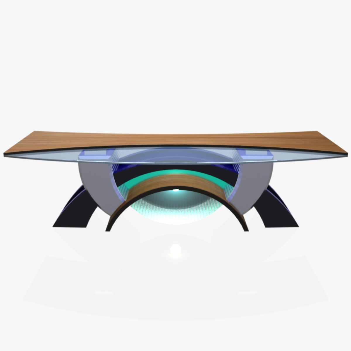 virtual tv studio news desk 2 3d model max dxf fbx  obj 215898