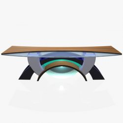 Virtual Tv Studio News Desk 2 3d model 0
