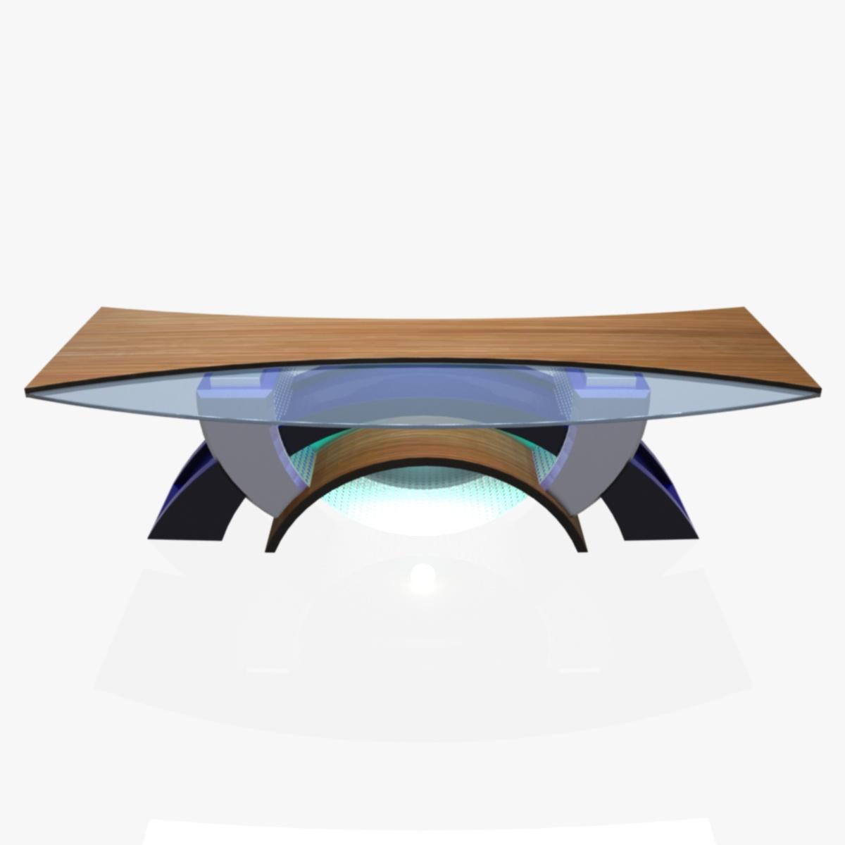 Virtual Tv Studio News Desk 2 3d Model Furniture 3d Models  # Meuble Tv Nesx