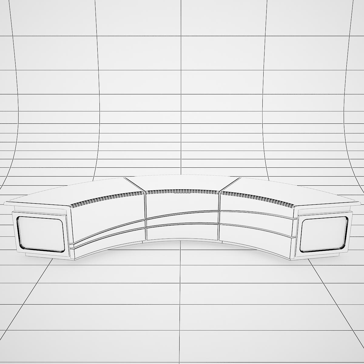 virtual tv studio news desk 4 3d model 3ds max dxf fbx  obj 215944