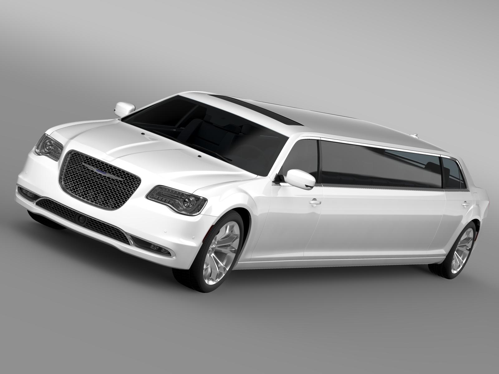 chrysler 300c platinum limousine lx2 2016 3d model 3ds max fbx c4d lwo ma mb hrc xsi obj 216046