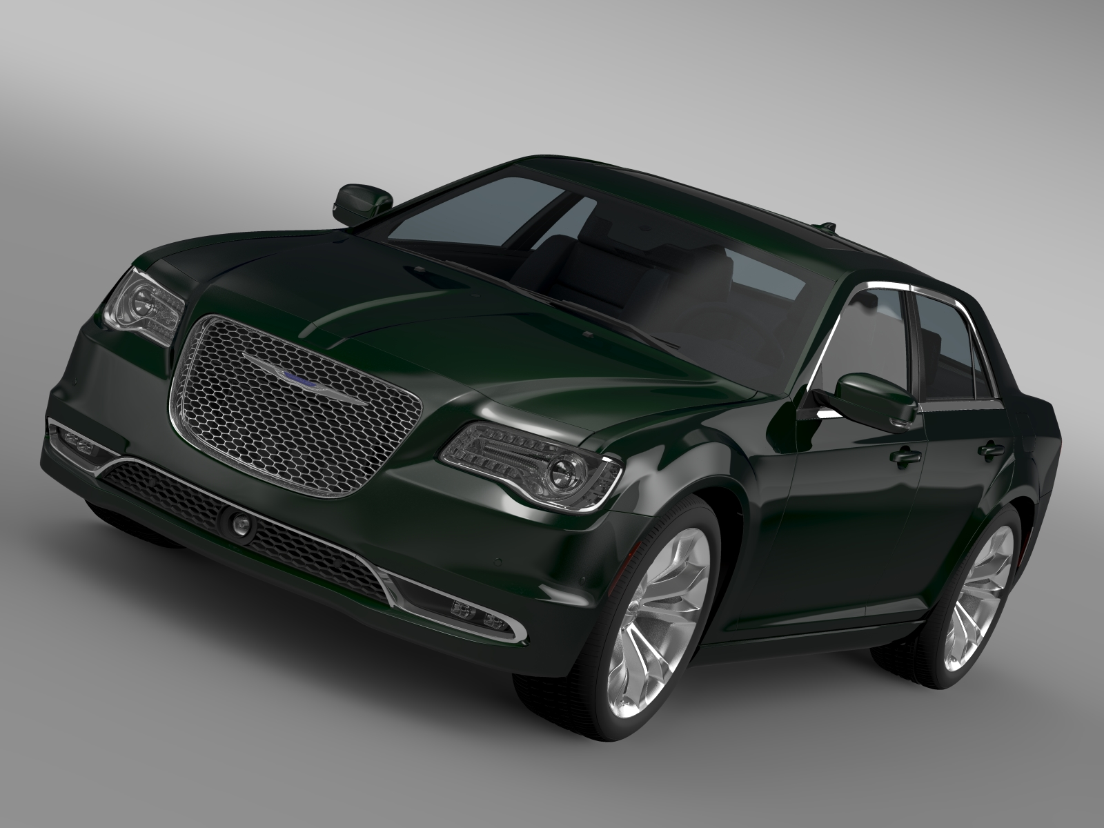 chrysler 300c platinasti lx2 2016 3d model 3ds max fbx c4d