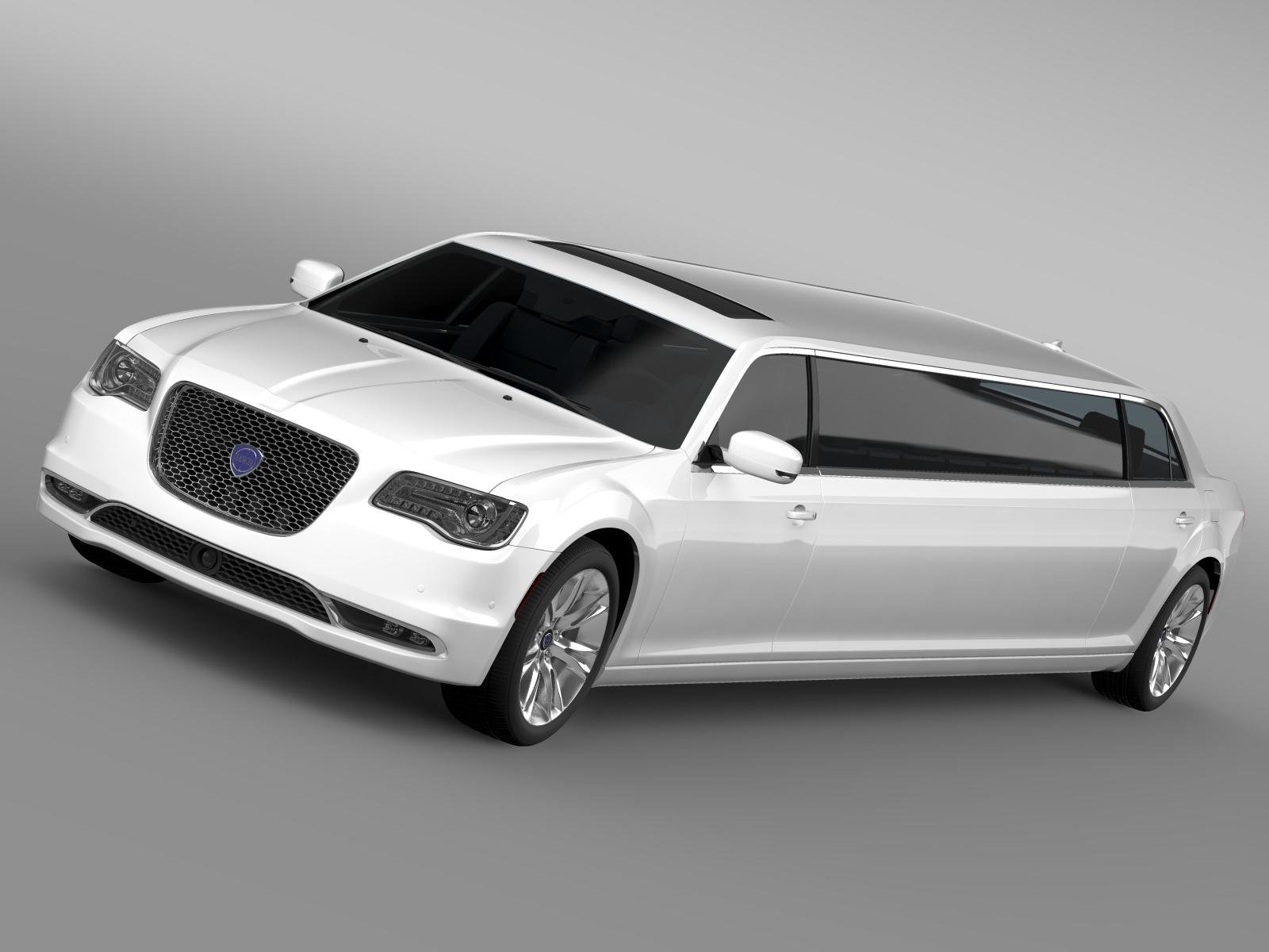 lancia thema limousine 2016 3d model 3ds max fbx c4d ar gyfer yr hrc xsi obj