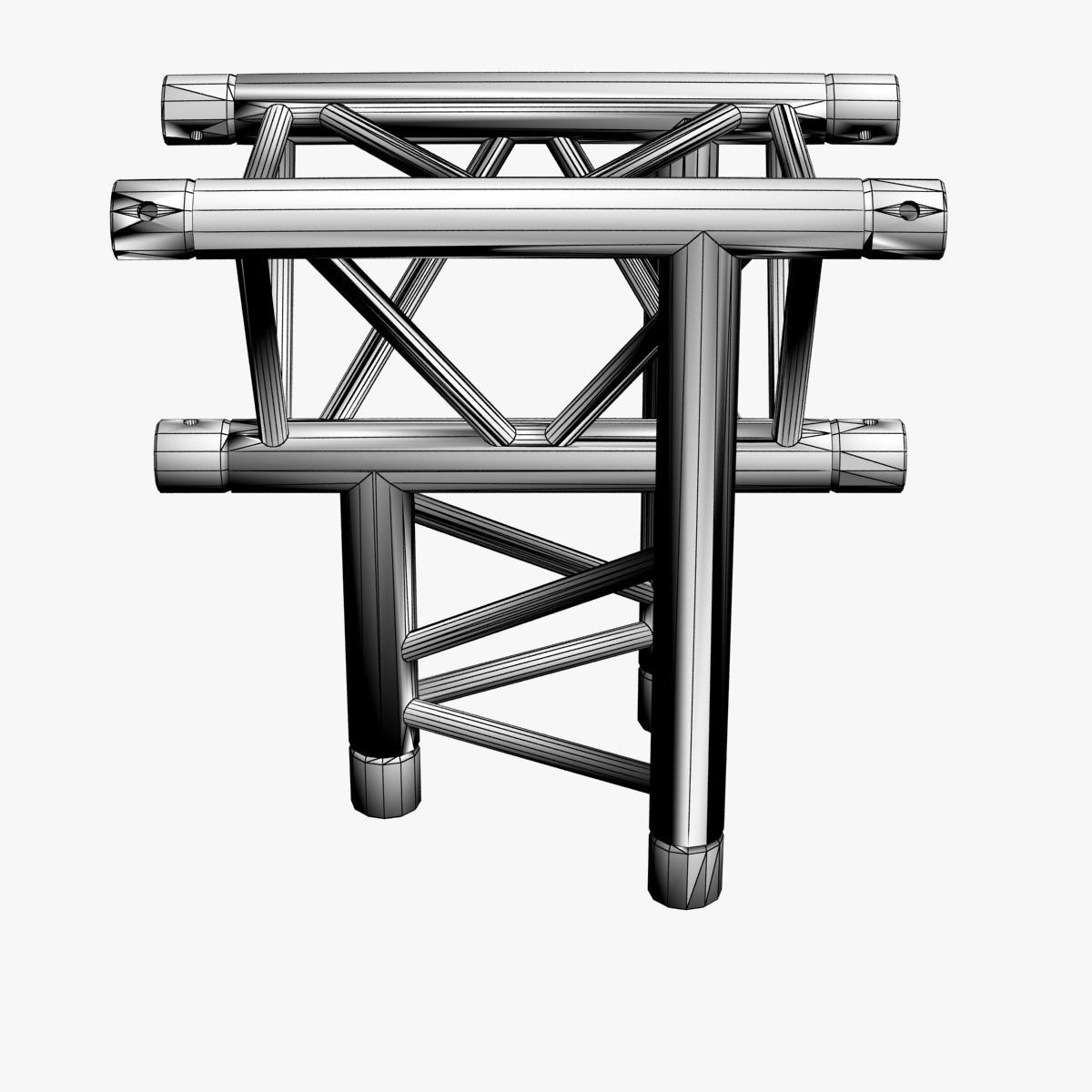 triangular trusses (collection 55 modular pieces) 3d model 3ds max dxf fbx c4d dae texture obj 216222