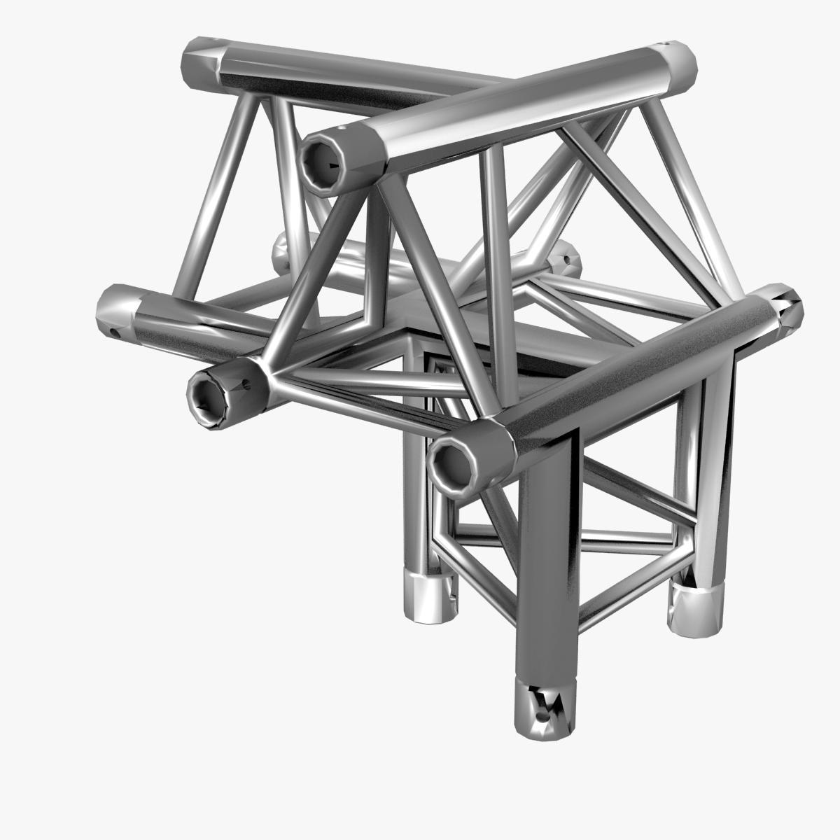 triangular trusses (collection 55 modular pieces) 3d model 3ds max dxf fbx c4d dae texture obj 216224