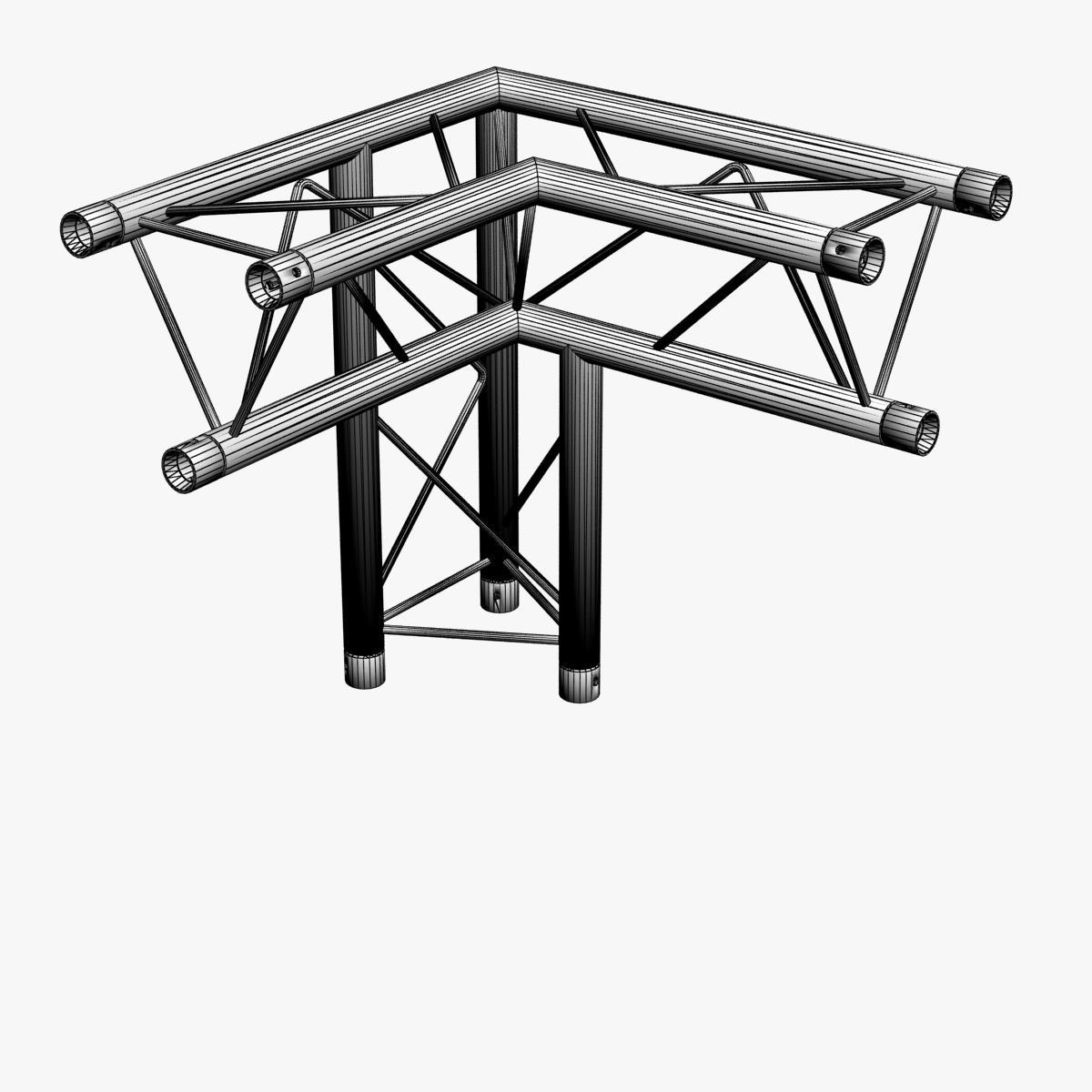 triangular trusses (collection 55 modular pieces) 3d model 3ds max dxf fbx c4d dae texture obj 216265