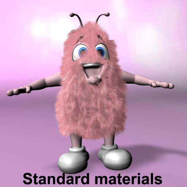 pink creature rigged and animated 3d model max fbx obj 216666