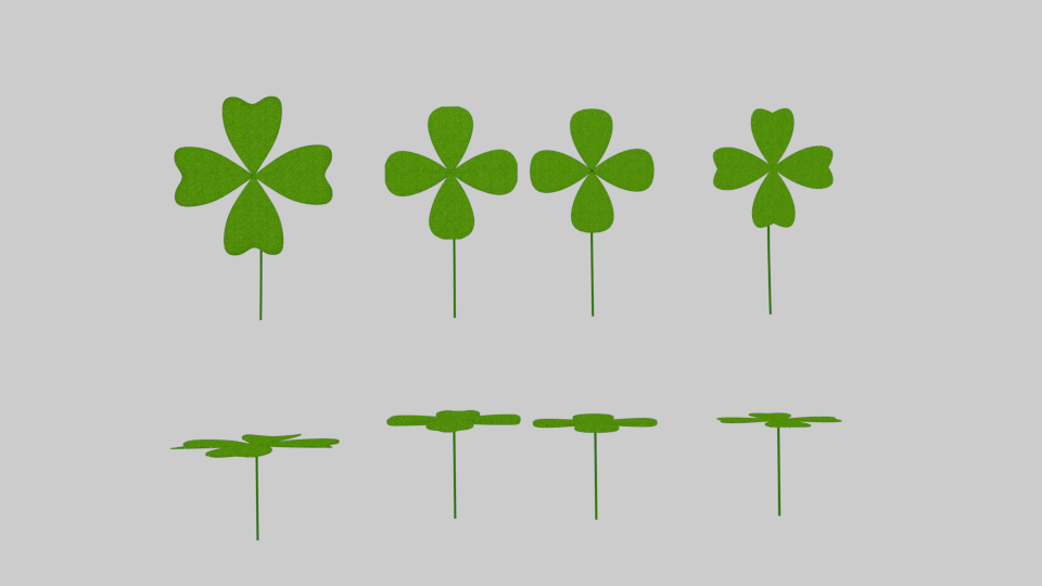 four leaf clover pack 3d model blend 216670
