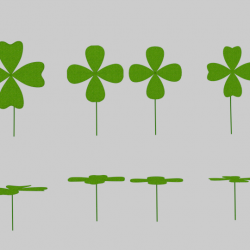 Four Leaf Clover Pack ( 128.06KB png by banism24 )