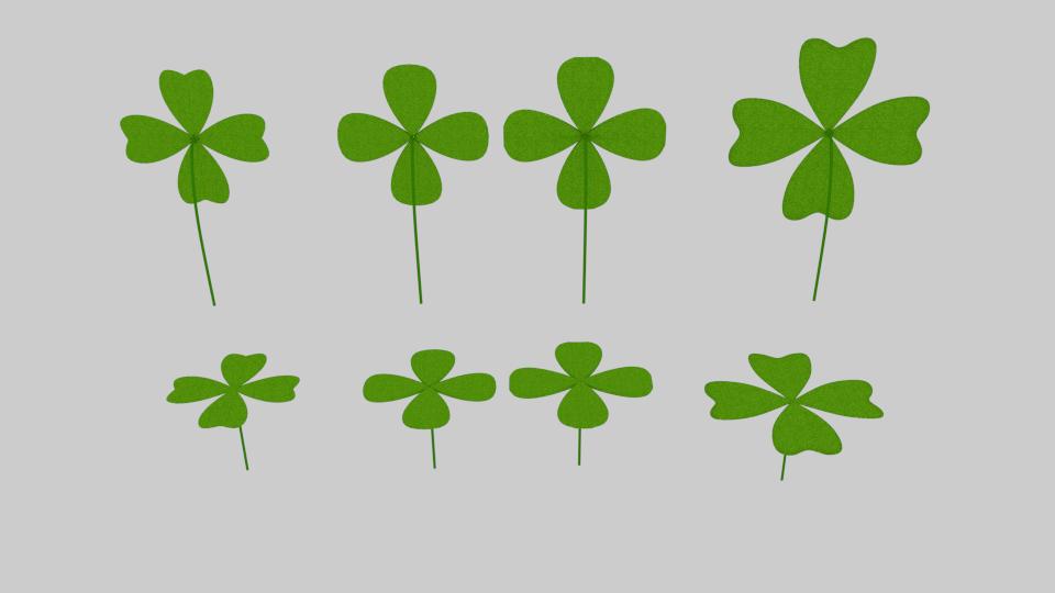 four leaf clover pack 3d model blend 216672