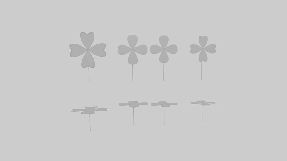 four leaf clover pack 3d model blend 216673
