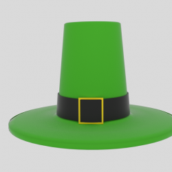 Leprechaun Hat 3d model 0