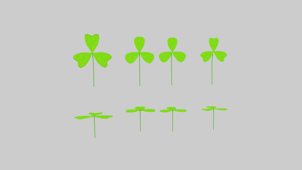 three leaf clover pack 3d model blend 216682