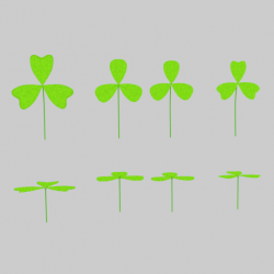 Three Leaf Clover Pack ( 84.22KB png by banism24 )