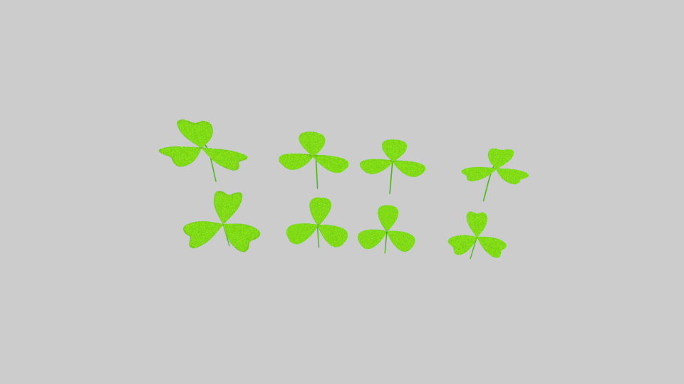 three leaf clover pack 3d model blend 216683
