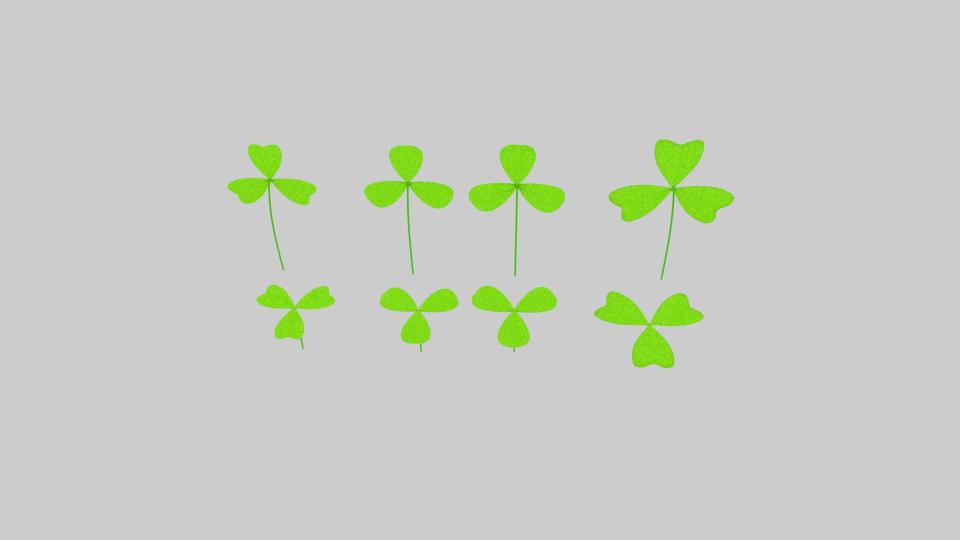 three leaf clover pack 3d model blend 216684