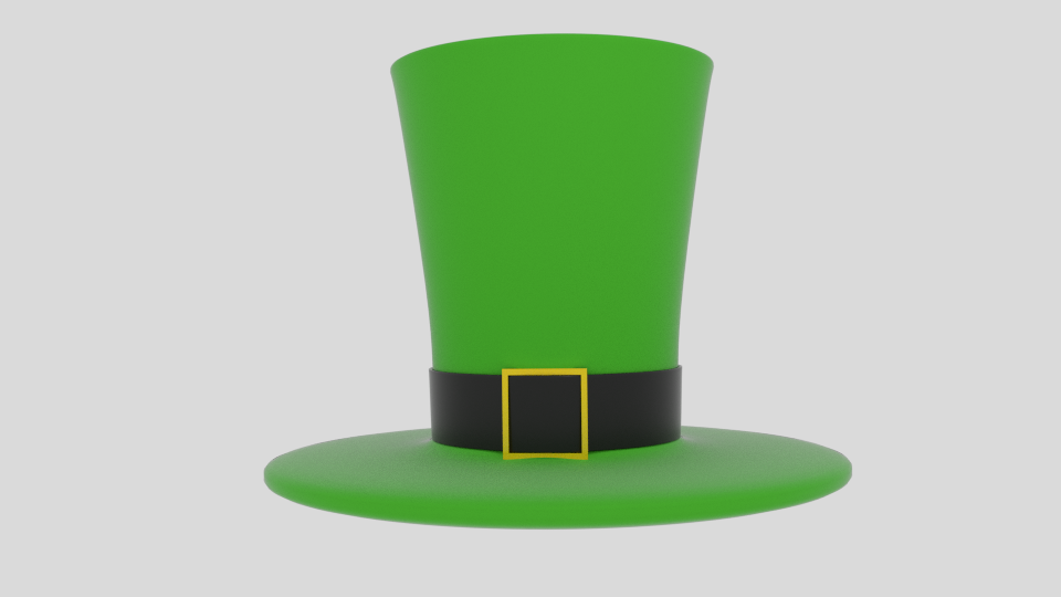 wacky leprechaun hat 3d model blend 216687