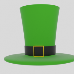 Wacky Leprechaun Hat 3d model 0
