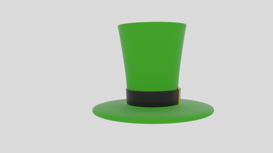 Wacky leprechaun hattur 3d líkan blanda 216688