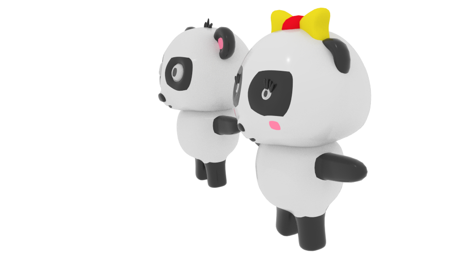 cartoon panda 3d model blend 216693