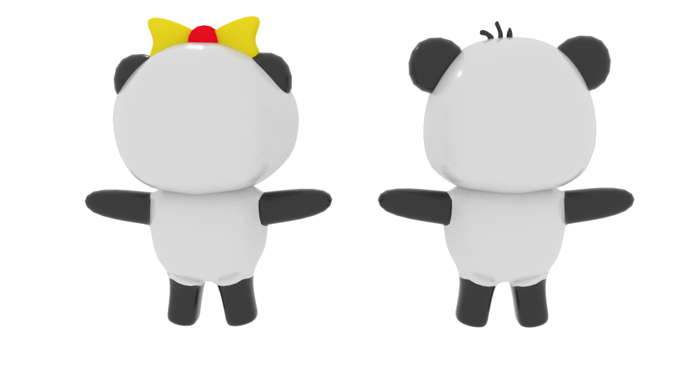 cartoon panda 3d model blend 216695