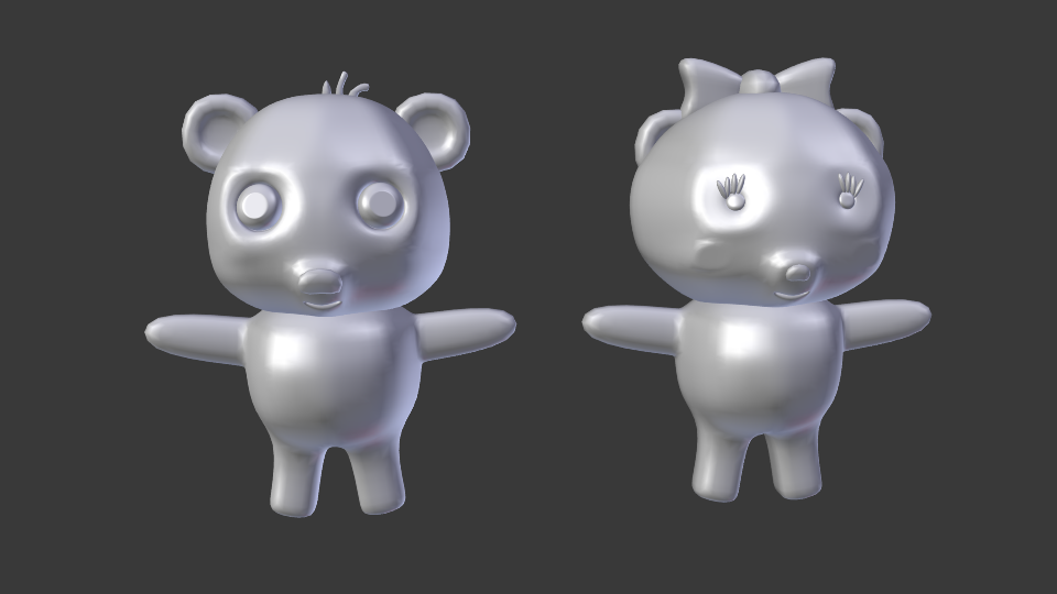 cartoon panda 3d model blend 216696