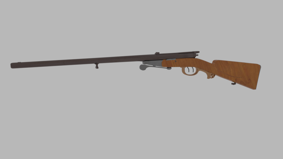 antique shotgun rifle 3d model blend 216699