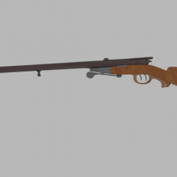 Antique Shotgun Rifle 3d model 0
