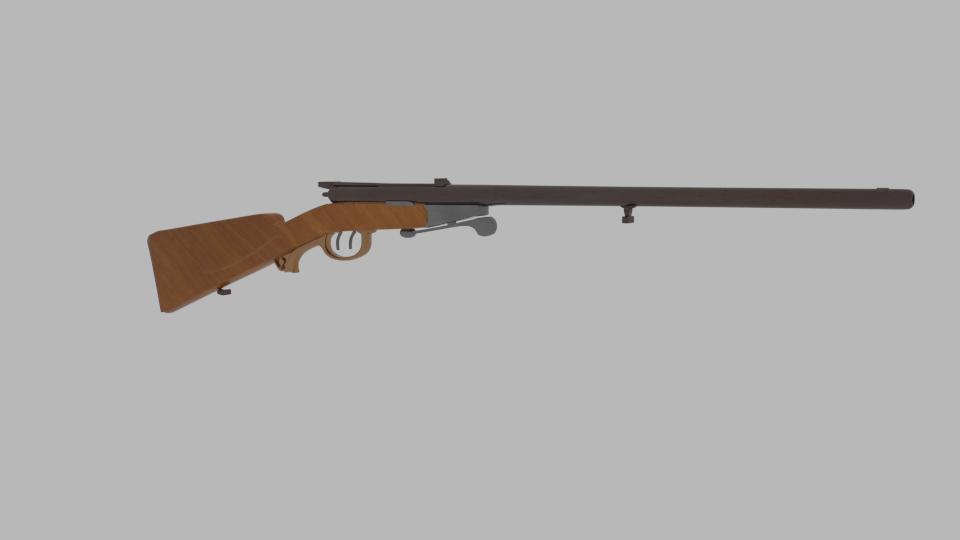 antik shotgun puska 3d modell keverék 216701