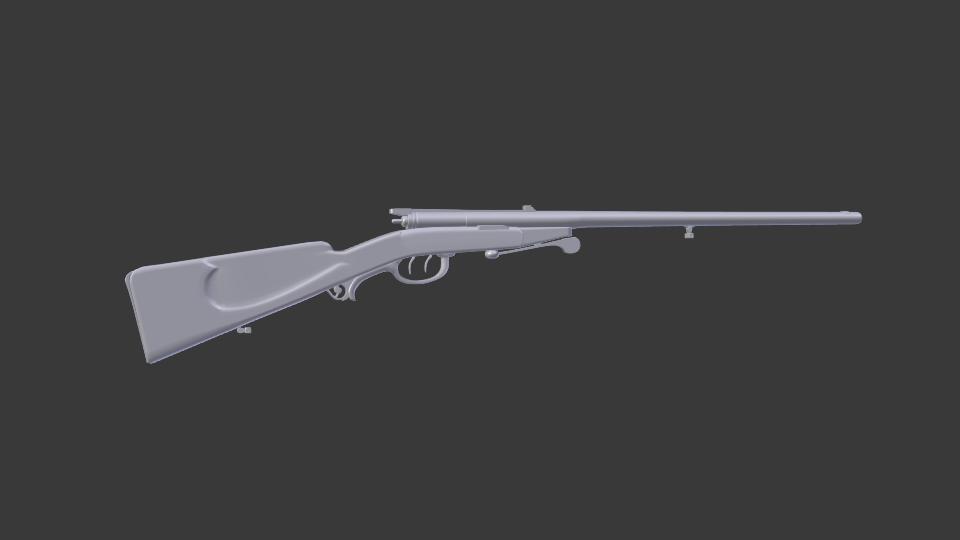 antik shotgun puska 3d modell keverék 216703