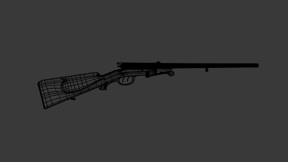 antik shotgun puska 3d modell keverék 216704
