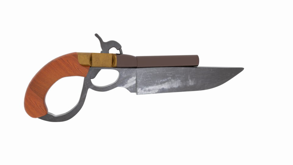 knife gun repro 3d model blend 216706