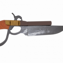 Knife Gun Repro 3d model 0