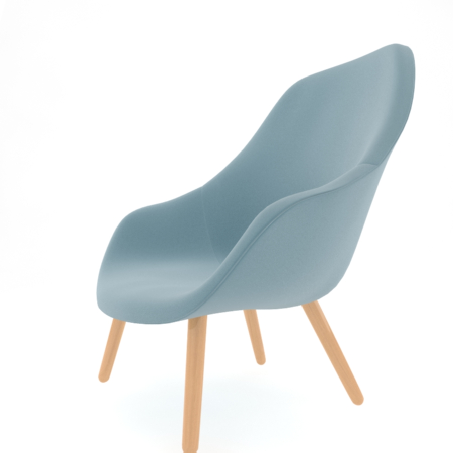 about a lounge chair aal92 3d model max fbx obj 216781