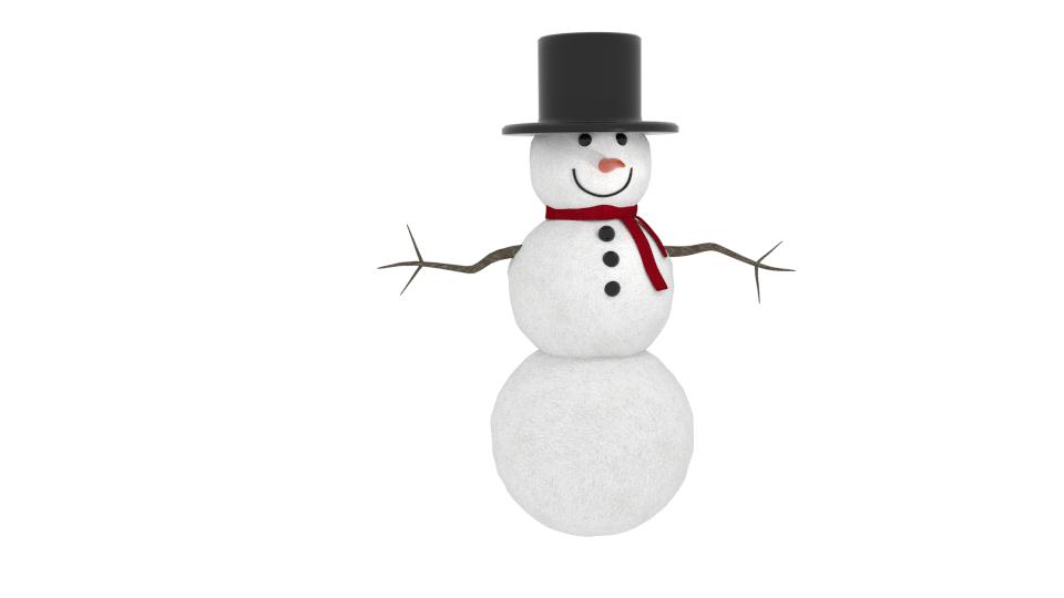 Zimski snjegović 3d model mješavina 216790