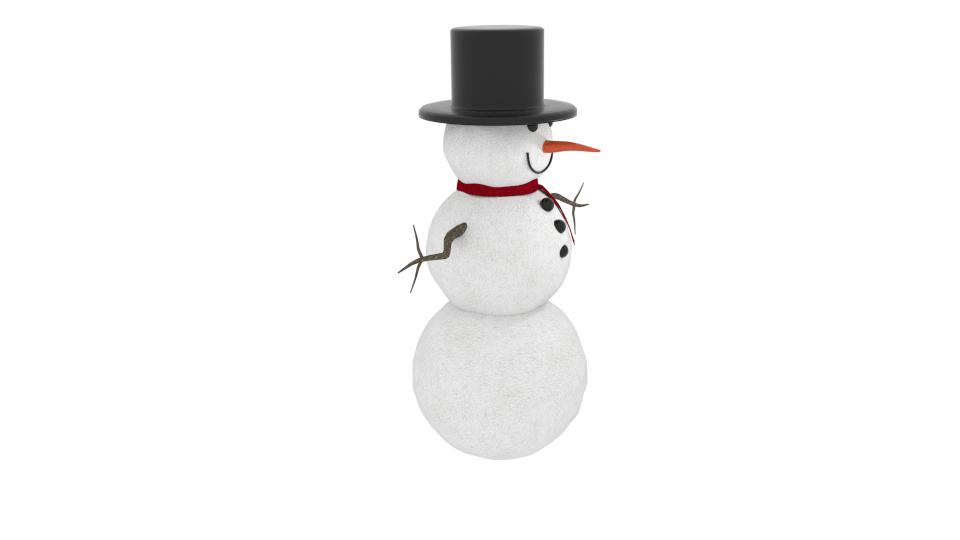 winter snowman 3d model blend 216791