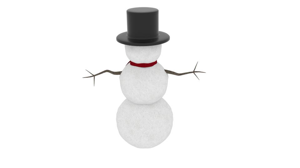 winter snowman 3d model blend 216792