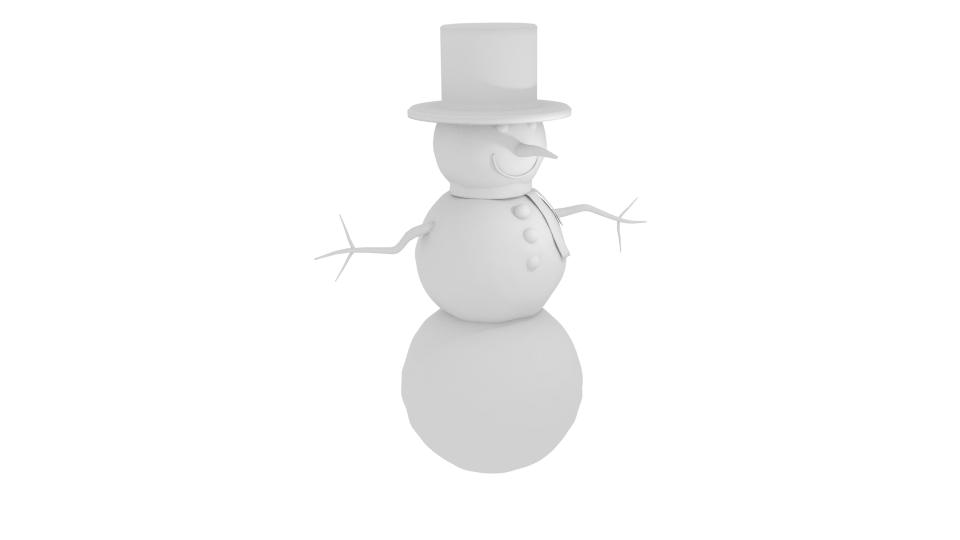 winter snowman 3d model blend 216793