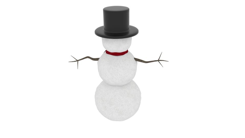 winter snowman 3d model blend 216794